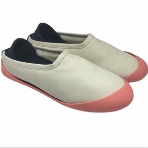 Mahabis Luxe Premium Leather Slippers Beige Coral